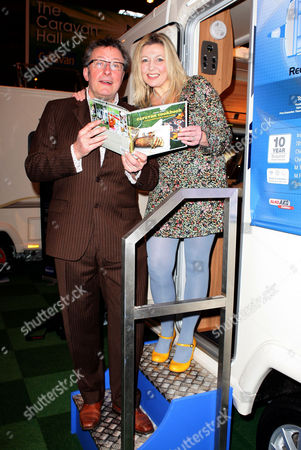 Stock Picture of Rowland and Monica Rivron with her new book 'Caravan Cookbook'