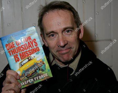 Editorial picture of Jasper Fforde 'One of Our Thursdays is Missing' book signing at Waterstones Reading, Britain - 22 Feb 2011