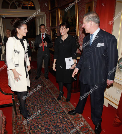 Stock Photo of Cheryl Cole, Kristina Kyriacou (Director of the Cheryl Cole Foundation) and Prince Charles