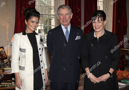 Stock Picture of Cheryl Cole, Prince Charles and Kristina Kyriacou (Director of the Cheryl Cole Foundation)