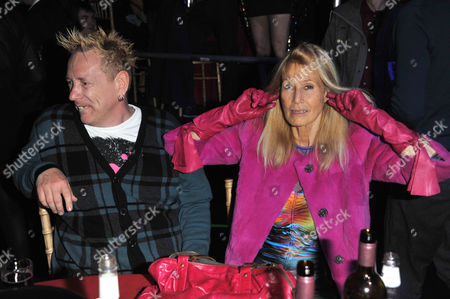 John Lydon with wife, Nora Forster