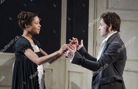 Naomie Harris (Elizabeth Lavenza), Jonny Lee Miller (Victor Frankenstein)
