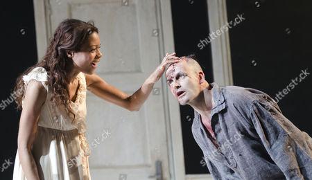 Naomie Harris (Elizabeth Lavenza), Jonny Lee Miller (The Creature)