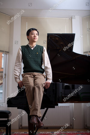 Editorial photo of Pianist and Composer, Kit Armstrong at home near Baker Street, London, Britain - 18 Feb 2011