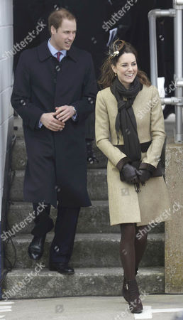 Editorial image of Prince William and Kate Middleton Visit Trearddur Bay RNLI Lifeboat Station, Anglesey, North Wales, Britain - 24 Feb 2011