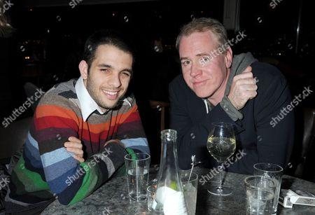 Brett Easton Ellis (right)