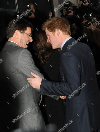 Prince Harry with High Commissioner Derek Leask.