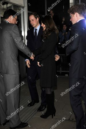 Prince William, Kate Middleton and Prince Harry with High Commissioner Derek Leask.