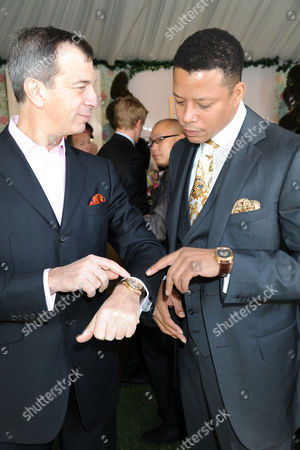 Philippe Leopold-Metzger (CEO Piaget) and Terrence Howard
