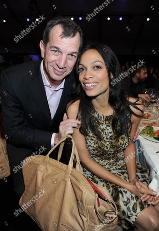 Philippe Leopold-Metzger (CEO Piaget) and Rosario Dawson