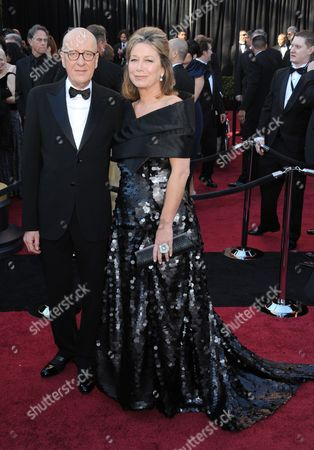 Geoffrey Rush with wife Jane Menelaus