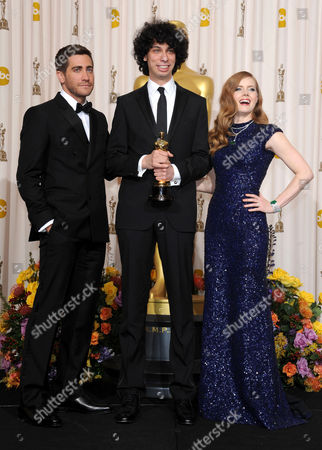 Jake Gyllenhaal, Luke Matheny and Amy Adams