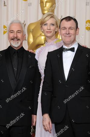 Rick Baker, Cate Blanchett and Dave Elsey