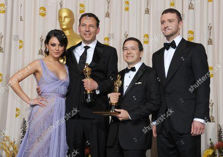 Mila Kunis, Shaun Tan, Andrew Ruhemann and Justin Timberlake