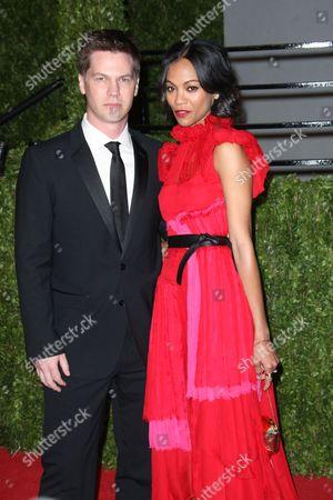 Stock Photo of Zoe Saldana and boyfriend Keith Britton