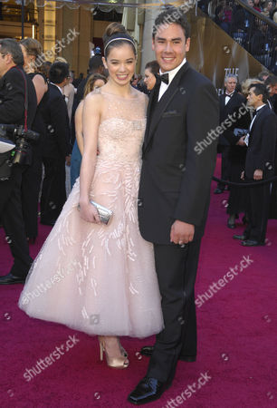 Stock Image of Hailee Steinfeld & brother Griffin Steinfeld