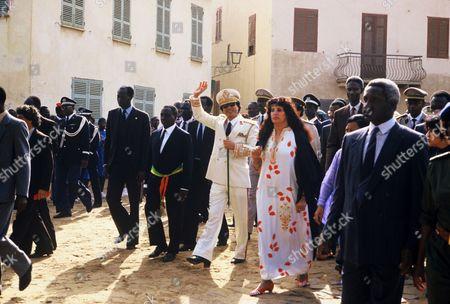 Editorial picture of Colonel Muammar Gaddafi official visit to Dakar, Senegal - 03 Dec 1985