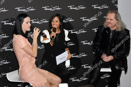 Stock Image of Katy Perry, Collien Fernandes and Thomas Sabo