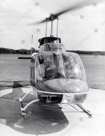 Alan Bristow (died April 2009) Owner Of The Bristow Helicopter Company In One Of His Helicopters.
