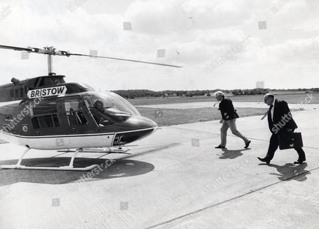 Alan Bristow (died April 2009) Owner Of The Bristow Helicopter Company About To Board One Of His Helicopters.