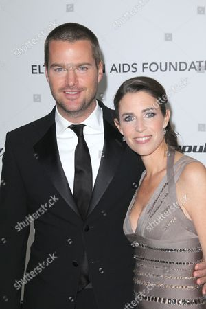 Chris O Donnell and Caroline Fentress