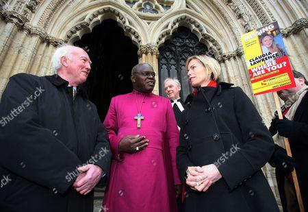 Peter Lawrence, Archbishop of York John Sentamu, Dean of York Rev Keith Jones and Kate McCann