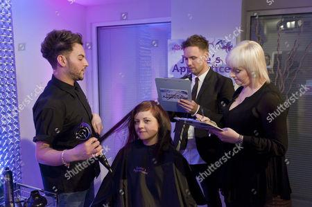 Jamie Stevens and Jayne Lewis-Orr with an apprentice