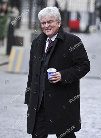 Lord Des Browne arriving at No 10 this morning