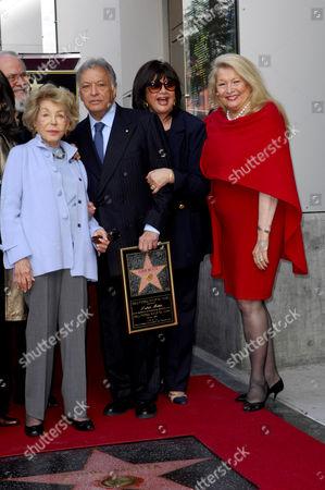 Zubin Mehta, wife Nancy Kovack with Anne Buydens