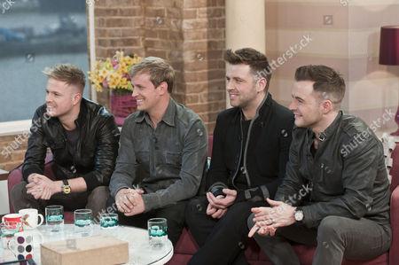 Stock Photo of Westlife - Nicky Bryne, Kian Egan, Mark Feehily and Shane Filan