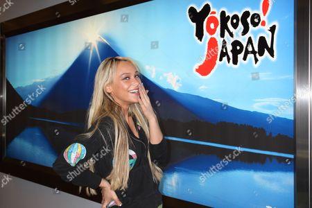 Editorial image of Kaci Battaglia arrives at Narita International Airport, Japan - 02 Mar 2011