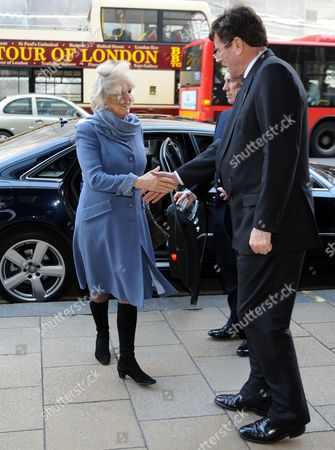 Camilla Duchess of Cornwall and High Commissioner Derek Leask