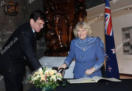 High Commissioner Derek Leask and Camilla Duchess of Cornwall