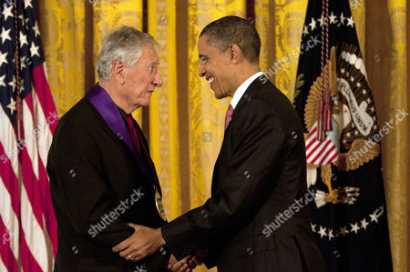 Stock Picture of Robert Brustein presented the National Medal of Arts by President Barack Obama.
