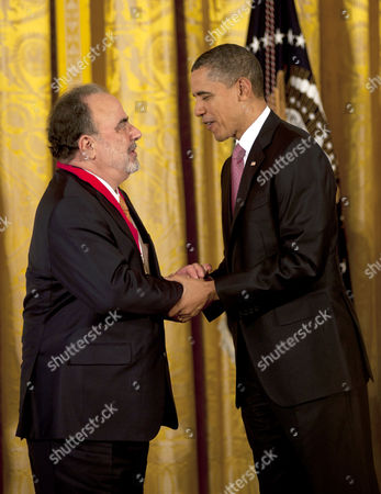 Stock Picture of Roberto Gonzalez Echevarria is being honored with the 2011 Medal of Art by President Barack Obama.