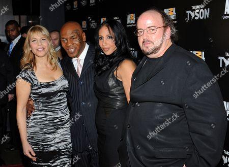 Marjorie Kaplan, Lakiha Kiki Spicer Tyson, Mike Tyson and James Toback
