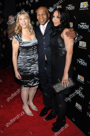 Marjorie Kaplan, Lakiha Kiki Spicer Tyson and Mike Tyson