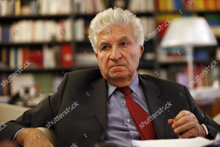 Editorial picture of Edmond Alphandery, Chairman of the Board of Directors of CNP Assurance. Paris, France - 23 Nov 2010