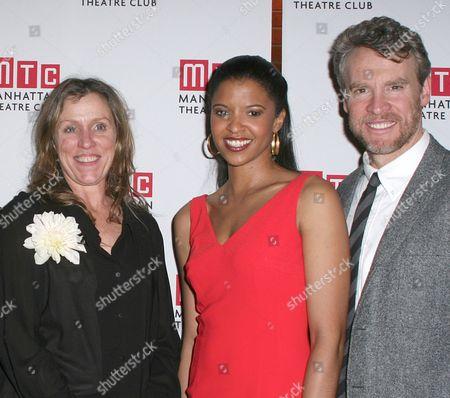 Frances McDormand, Renee Elise Goldsberry and Tate Donovan