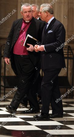 Prince Charles (right) and the Right Reverend Graeme Knowles, Dean of St Paul's Cathedral