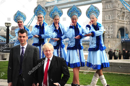 Mikhail Prokhorov, Boris Johnson and Russian performers