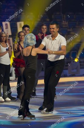Behind the scenes. Dominic Cork with Dancing partner Alexandra Schauman