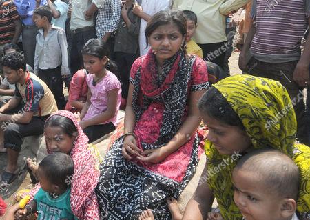 Slumdog Millionaire star Rubina Ali after her home was destroyed by fire