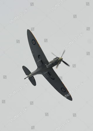 Pilot Carolyn Grace, who is the only female Spitfire pilot in the world, flying