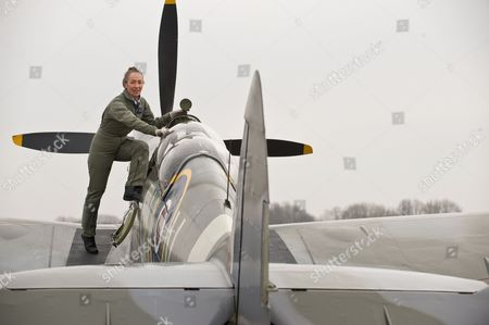 Stock Picture of Pilot Carolyn Grace, who is the only female Spitfire pilot in the world