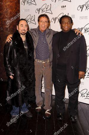 Tour promoter David Gest, Sir Cliff Richard and Lamont Dozier