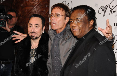 David Gest, Sir Cliff Richard and Lamont Dozier