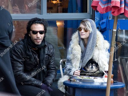 Carlos Leon and Betina Holte with pet dog