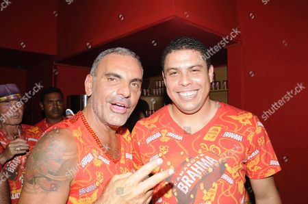 Stock Picture of Christian Audigier and Ronaldo