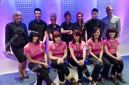 Apprentices with Jayne Lewis-Orr (top left)